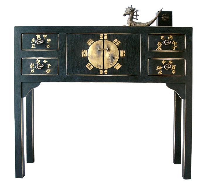 muebles con cajones negros orientales
