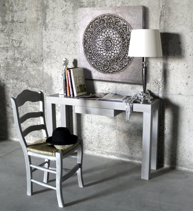 Estudio delier consola zen gris provenza - Consola muebles entrada ...