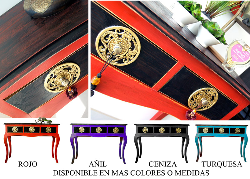 consolas muebles colores modernos