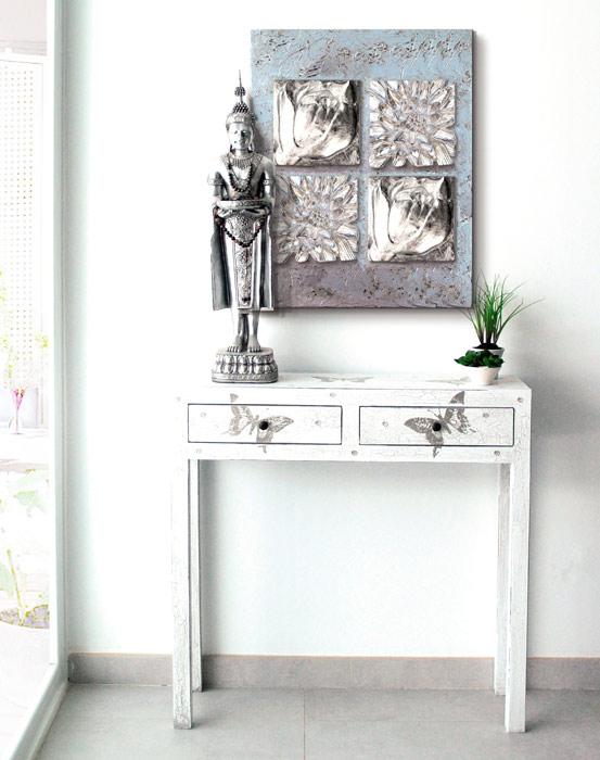 estudio delier consola living mariposa 90x80 cm