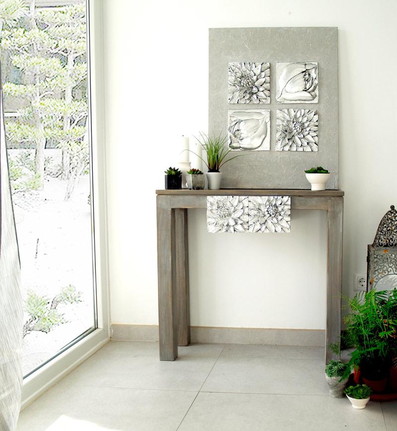 Estudio delier consola zen nenufar - Consola muebles entrada ...
