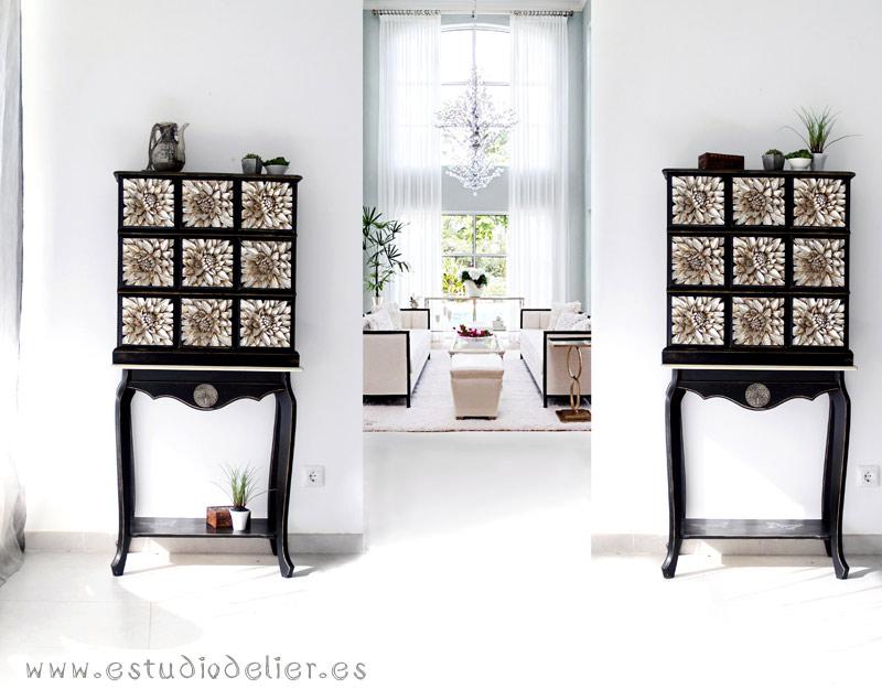 muebles auxiliares de salon clasicos