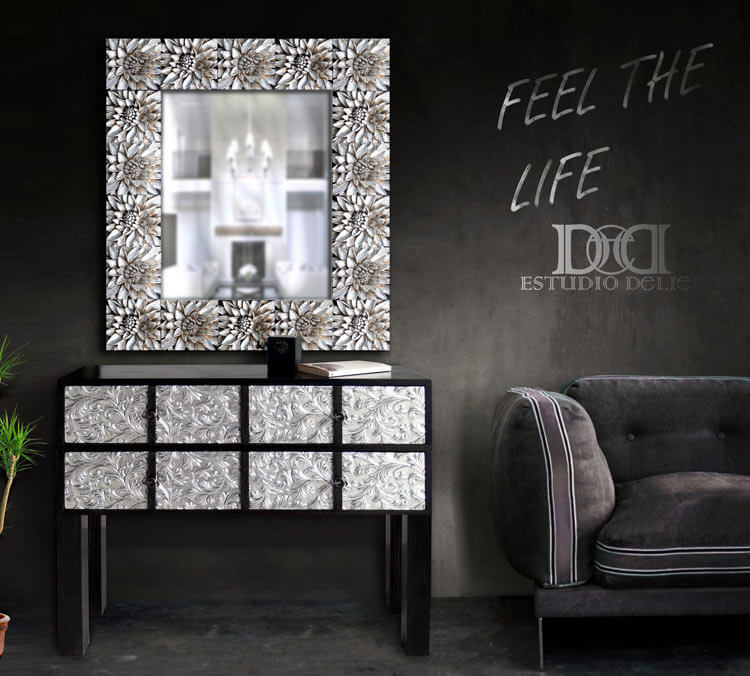 Estudio delier mueble consola de entrada luxory - Muebles de entrada ...