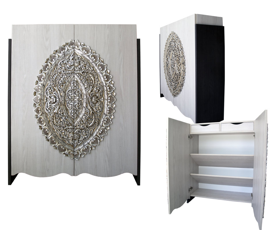 Estudio delier mueble zapatero mandala for Zapateros modernos de pared