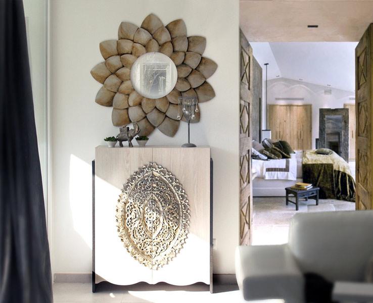 Estudio delier mueble zapatero mandala for Zapatero entrada casa